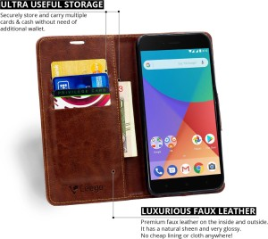 853efd94361 Ceego Flip Cover for Xiaomi Mi A1 Walnut Brown Artificial Leather Best Price  in India