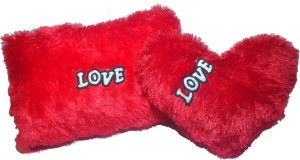 Neems Soft Heart with Pillow Medium size toys Combo for Kids 100% Safe product  - 35 cm