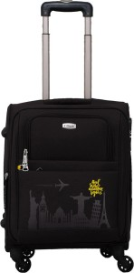 TIMUS Salsa Black 55 CM 4 Wheel Strolley Suitcase For Travel ( Cabin Luggage) Expandable  Cabin Luggage - 20 inch