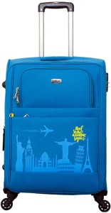 TIMUS Salsa Ocean Blue 65 CM 4 Wheel Strolley Suitcase For Travel ( Check-in Luggage) Expandable  Check-in Luggage - 24 inch