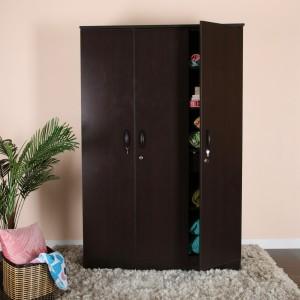 Valtos Engineered Wood 3 Door Wardrobe