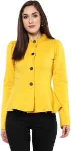 Sassafras Full Sleeve Solid Women's Jacket