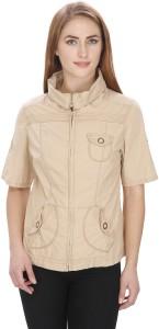 MansiCollections Half Sleeve Solid Women's Jacket