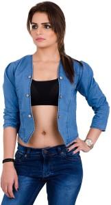 Visach 3/4th Sleeve Solid Women's Denim Jacket