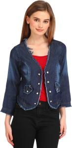 Dastkhat Half Sleeve Solid Women's Jacket