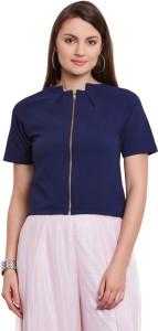 Cherymoya Half Sleeve Self Design Women's Jacket