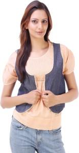 Goodwill Impex Sleeveless Solid Women's Basic Denim Jacket