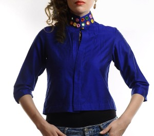 Ans Astha And Sidharth Half Sleeve Solid Women's Jacket