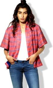 BOHO INDIAN Half Sleeve Self Design Women's Jacket