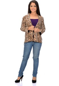 Instinct Half Sleeve Animal Print Women's Jacket