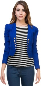 BuyNewTrend 3/4th Sleeve Solid Women's Jacket