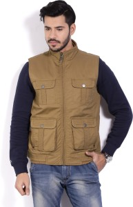 20ba9ea51f9 Allen Solly Sleeveless Solid Men s Casual Jacket Best Price in India ...