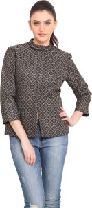 Trend Arrest 3/4th Sleeve Printed Women's Quilted Jacket