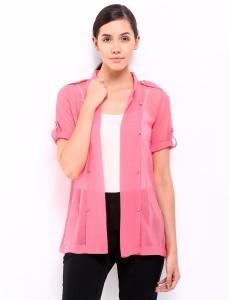 Soie Half Sleeve Solid Women's Jacket