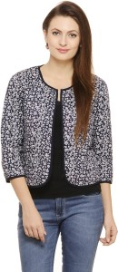 Label VR Half Sleeve Floral Print Women's Jacket