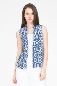 IDK Sleeveless Printed Women's Jacket