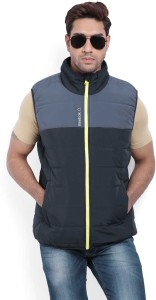 259f66b0a Reebok Sleeveless Solid Men s Puff Jacket Jacket Best Price in India ...