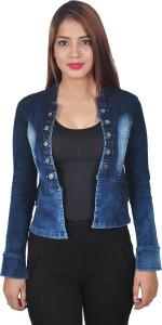 Broadstar Full Sleeve Self Design Women's Denim Jacket