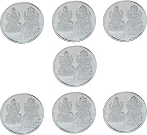 Kataria Jewellers Lakshmi Ganesh S 999 10 g Silver Coin