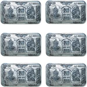 Kataria Jewellers Lakshmi Ganesh S 999 10 g Silver Bar
