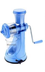 Bluewhale Blue with Steel Handle Fruit & Vegetable Juicer Plastic, Steel Hand Juicer