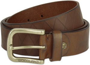 e116edd64 Woodland Men Casual Tan Genuine Leather Belt Best Price in India ...