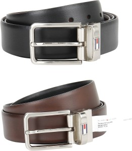 eb5dcf9b8495 Tommy Hilfiger Men Formal Black Brown Genuine Leather Reversible Belt Best  Price in India