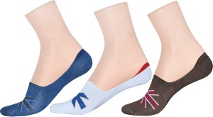 LA SMITH Men's Printed No Show Socks