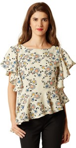 Miss Chase Casual Half Sleeve Printed Women's Multicolor Top