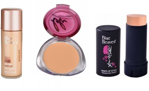 Blue Heaven oil free foundation,personal compact with panstick concealer