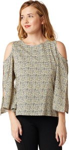 Miss Chase Casual 3/4th Sleeve Printed Women's Multicolor Top