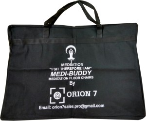 Orion 7 MEDI BUDDY Meditation chair with Bairagon(elbow/arm rest)support  MassagerNavy Blue
