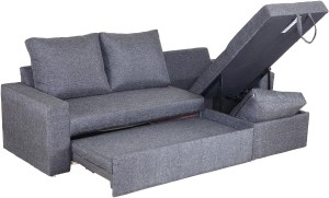 Sofame Rio Double Solid Wood, Metal Sofa Sectional Bed