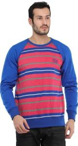 Rockhard Full Sleeve Striped Men Sweatshirt