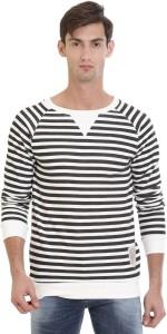 VUDU Full Sleeve Striped Men Sweatshirt