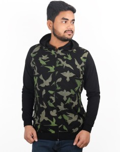 One Liner Printed Men's Hooded Multicolor T-Shirt