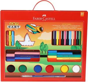 Faber-Castell Art Cart Kit With Free Paint Brush