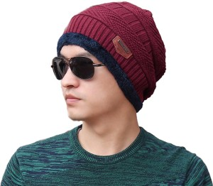 e0d956a18e3 FRIENDSKART Autumn Winter warm beanies for men hats fahion Casual Cap Thick  knitted hat bonnet plus