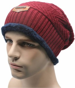 00990e89f1c FRIENDSKART Autumn Winter warm beanies for men hats fahion Casual Cap Thick  knitted hat bonnet plus velvet caps for men beanie Cap
