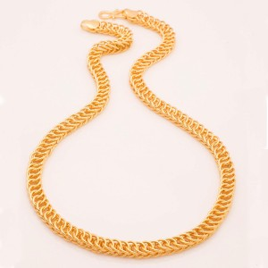 153925ea9645d Fashion Frill Trendy Fancy Classic Rocking Heavy Designer & Lotus Design  Double Coated Men Rhodium, Yellow Gold Plated Brass Chain