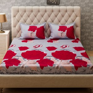 f900da48a5 Bombay Dyeing Microfiber Floral Double Bedsheet 2 Pillow covers Red Best  Price in India | Bombay Dyeing Microfiber Floral Double Bedsheet 2 Pillow  covers ...