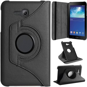 best service fb595 08351 Gizmofreaks Flip Cover for Samsung Galaxy Tab TAB 3 NEO T111 T110 Tab 3V  T116Black, Artificial Leather