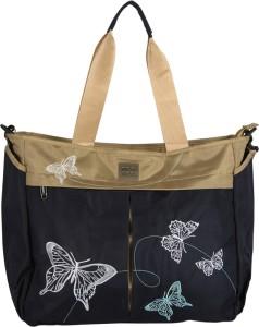 Meemee Multipurpose Diaper Bag With Bottle Warmer & Changing Mat (Navy Blue) Nursery Bag