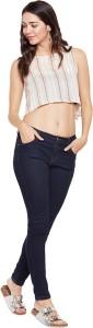 Florrie Fusion Casual Sleeveless Striped Women's White Top