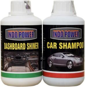 INDOPOWER CAR DASHBOAD SHINER+ CAR WASH SHAMPOO COMBO OFFER Car Washing Liquid