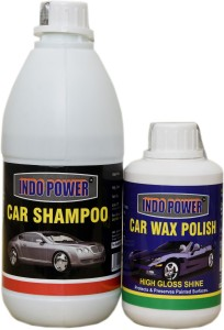 INDOPOWER CAR WAX POLISH 250GM., CAR WASH SHAMPOO 500ML. Car Washing Liquid