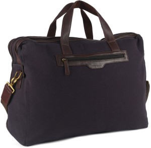 Hidesign VIKING 03-CANVAS E.I GOAT-NAVY BLUE BROWN Travel Duffel Bag