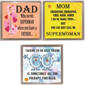 Thoughtroad DAD MOM BESTFRND Fridge Magnet