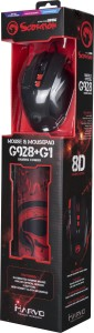 Marvo G928 + G1 Mouse & Mouse pad Combo Wired Optical  Gaming Mouse
