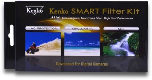 Kenko 52mm Smart Filter Kit (MC Filter, ND8 Filter,CPL Filter and Cover Case) Clear Filter